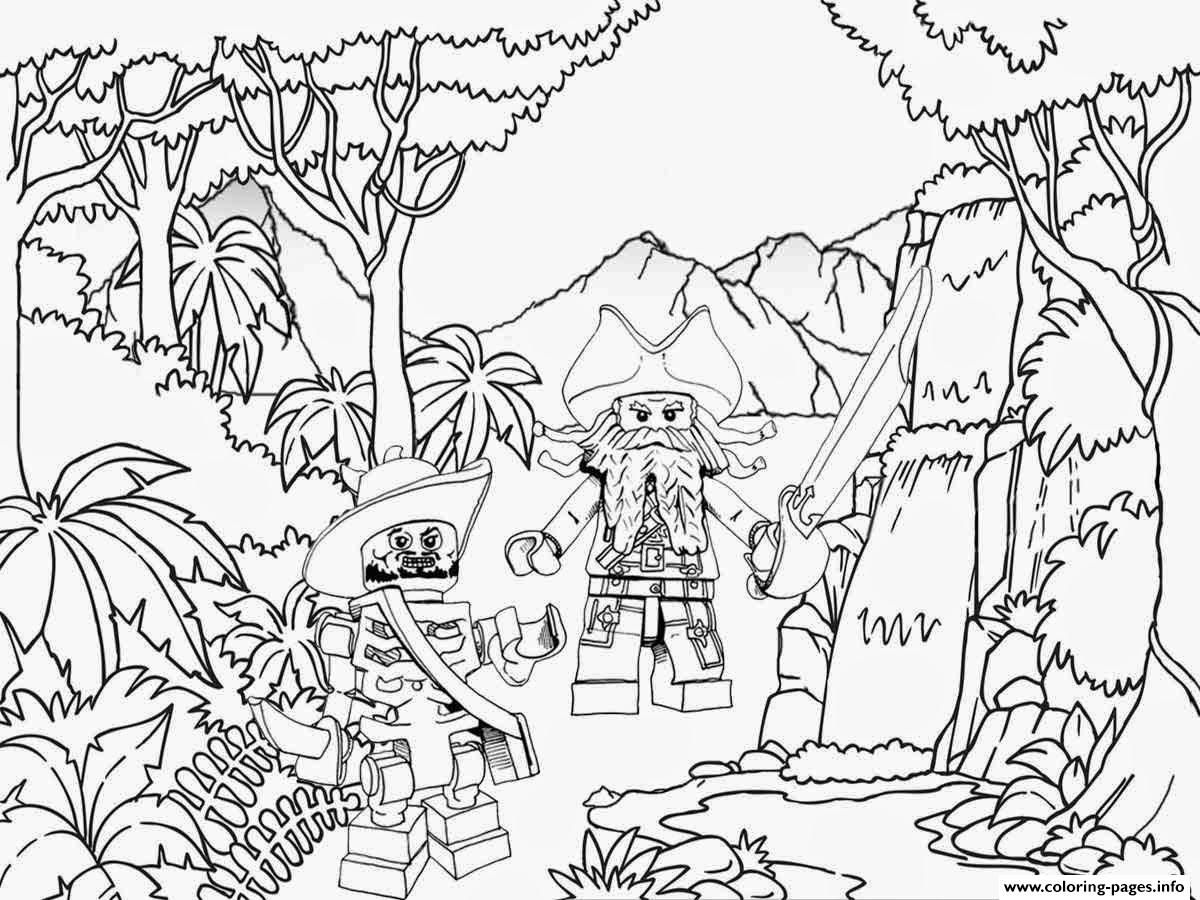 Print Lego Pirates Jungle Coloring Pages Pirate Coloring Pages Lego Coloring Pages Bird Coloring Pages