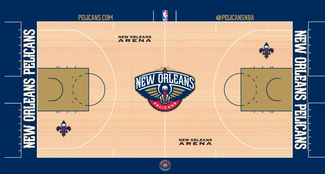 Introducing the New Orleans Pelicans Court  091f80583