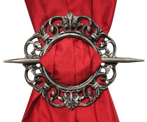 Set of 2 Decorative Curtain Holdbacks Window Curtain Tiebacks, Antique is part of Home Accessories Design Window - Easily tie back your curtains, without screwing anything into the wll  simply bunch curtain together and click with holdback  Antique design holdback  Trendy beautiful design, Great for use in any room  Hooks in seconds  Decorative plastic curtain holdback  Authentic material and durable construction ensure longlasting use