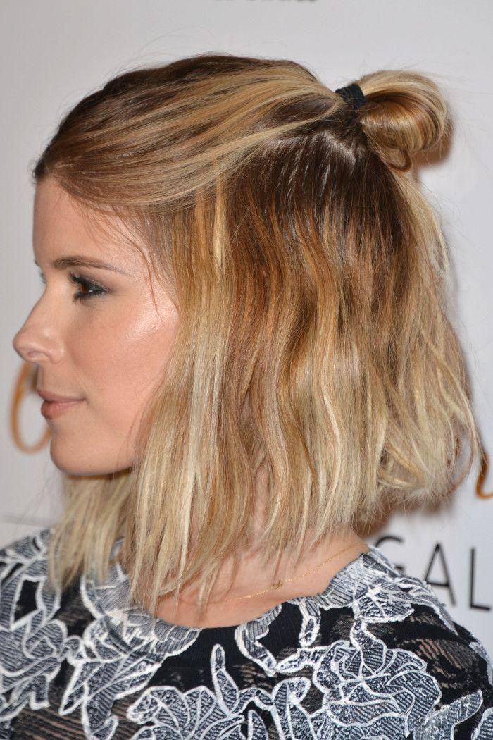 The Hun Thats Half Bun Hairstyle Trend Hair Grazia Daily