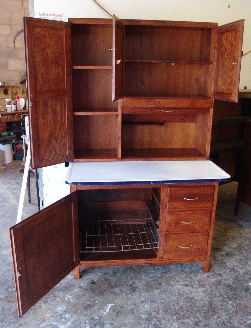vintage kitchen hoosiers | Antique Kitchen Cabinet Hoosier AFTER 2 ...