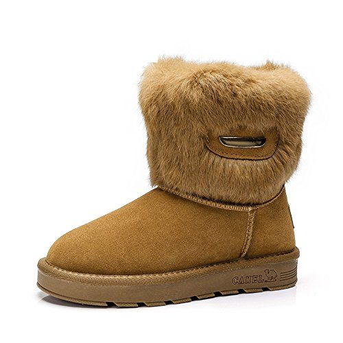 86840c328b5 CAMEL Womens Snow Boots With Warm Fur Booties Color Camel Size 39 M ...