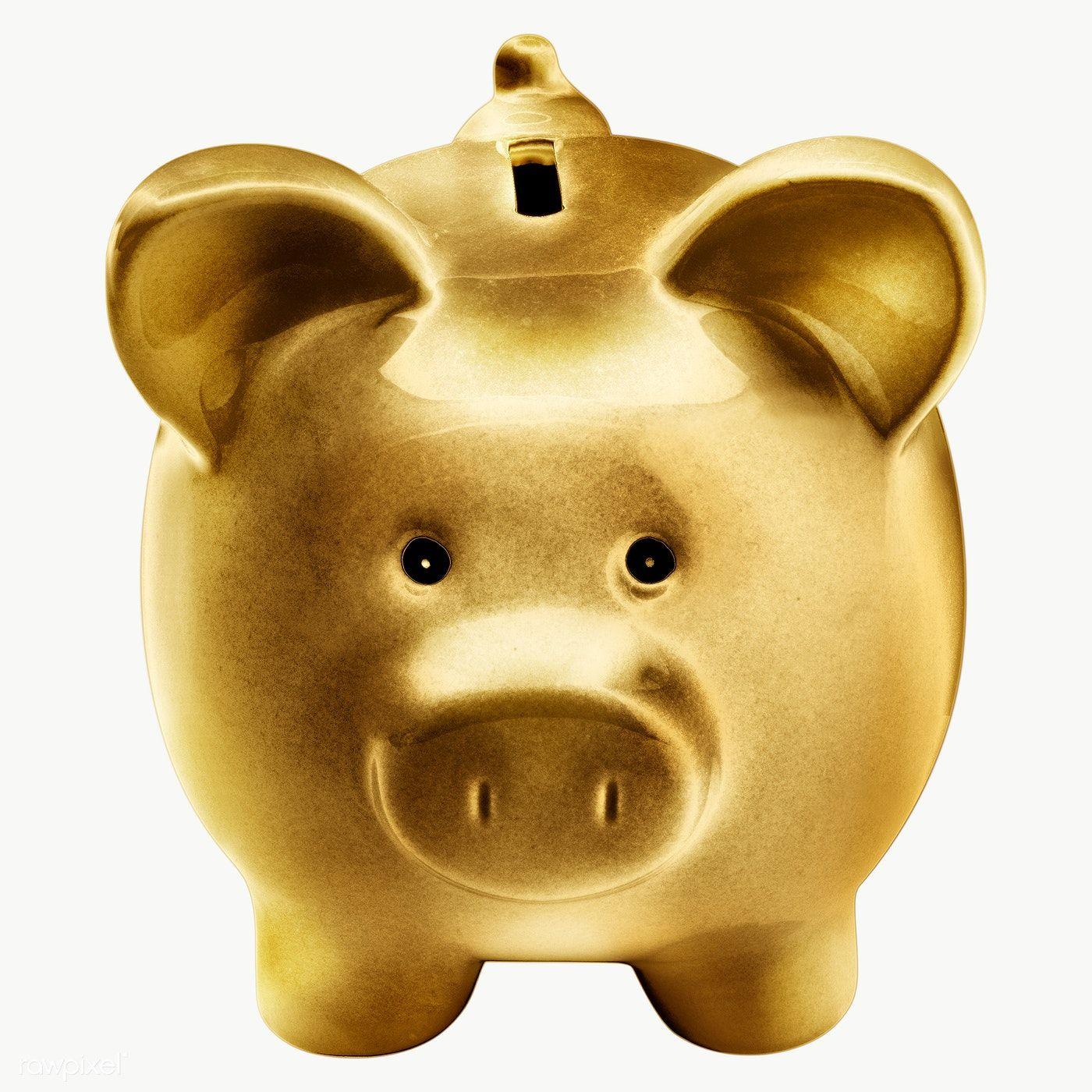 Gold Piggy Bank Sticker Design Element Free Image By Rawpixel Com Winn Piggy Bank Sticker Design Piggy
