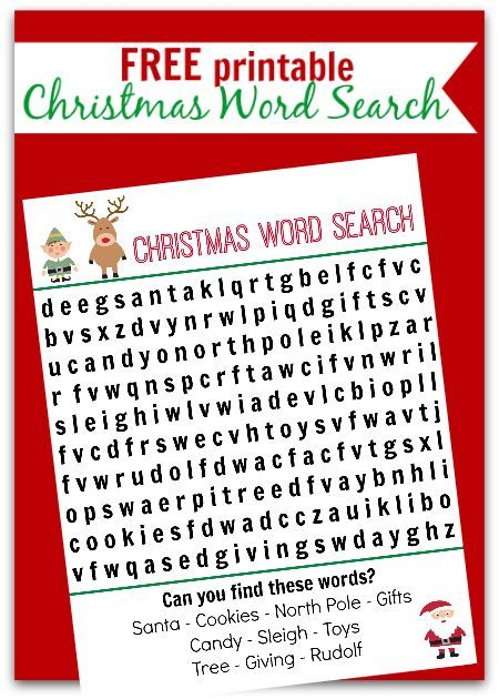 Christmas Word Search Free Printable Word search, Kid table and - free christmas word templates