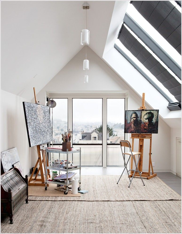 Light Filled Home Studio Space Places To Inspire Pinterest Art