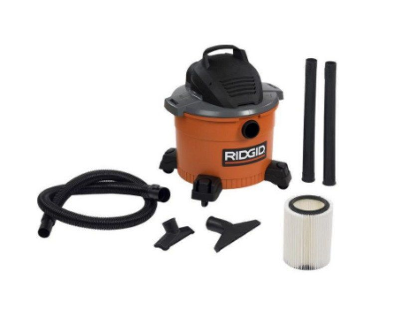 9 Gallon High Performance 4 25 Peak Hp Wet Dry Vacuum With 4 Swivel Casters Wet Dry Vac Vacuums