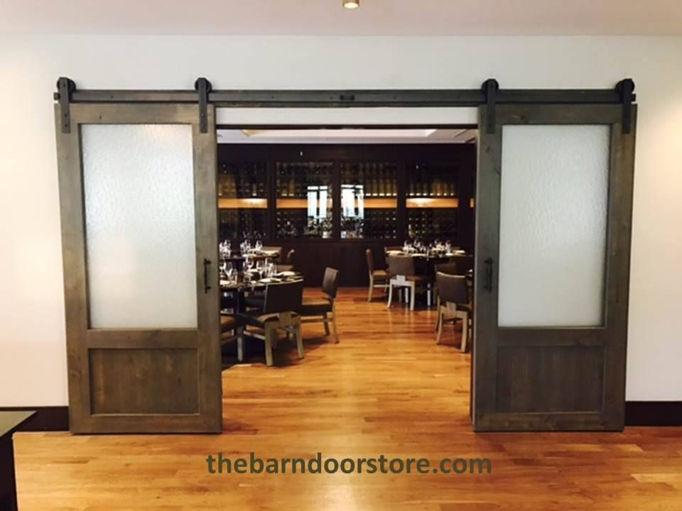 Frosted Glass Barn Doors Makes A Huge Statement In This Restaurant