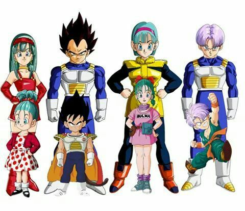 Bra Vegeta Bulma E Trunks Dragon Ball Gt Dragon Ball