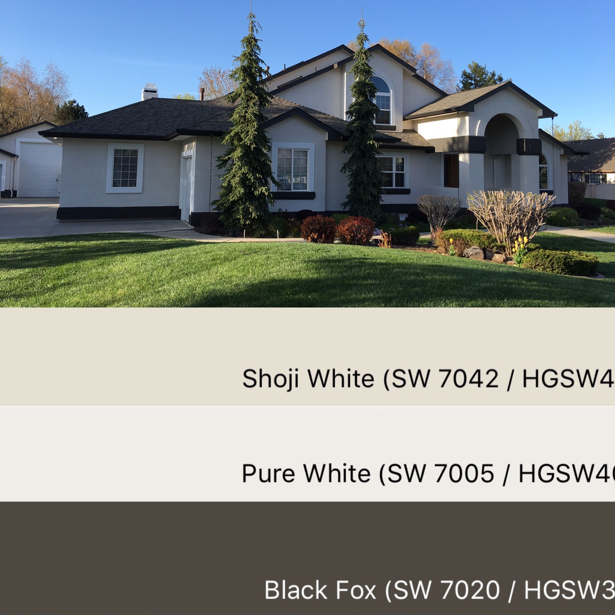 Sherwin williams paint colors shoji white 7042 pure - Sherwin williams black fox exterior ...