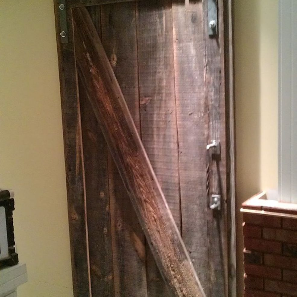 Barndoor I Made For A Clients Basement Mancave