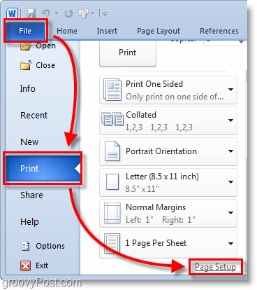 Micosoft Word  Screenshot Select The File  Print Menu From