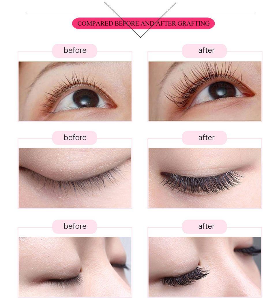 c0844315cf9 New Double Tip Flat Eyelashes Extension Kit Individual Eyelash Extension  Silk Lashes Ellipse Cilia For Augmentation BK