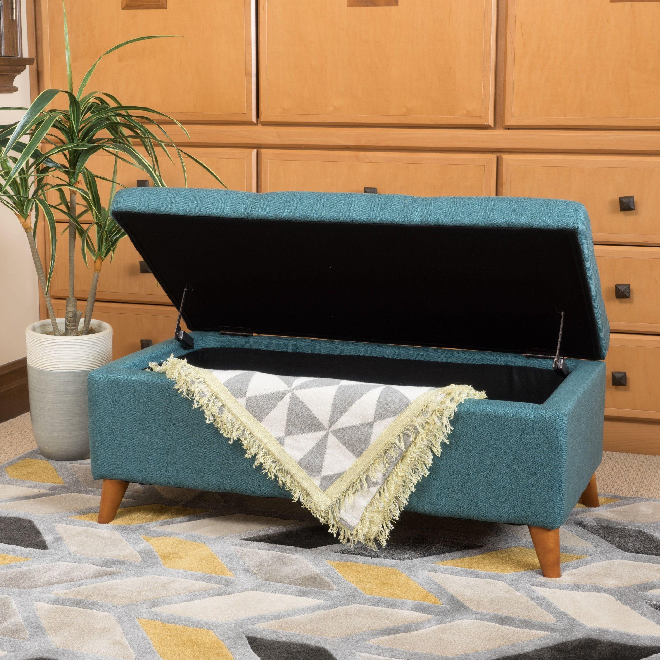 Peachy Harper Mid Century Storage Ottoman Bench By Christopher Machost Co Dining Chair Design Ideas Machostcouk