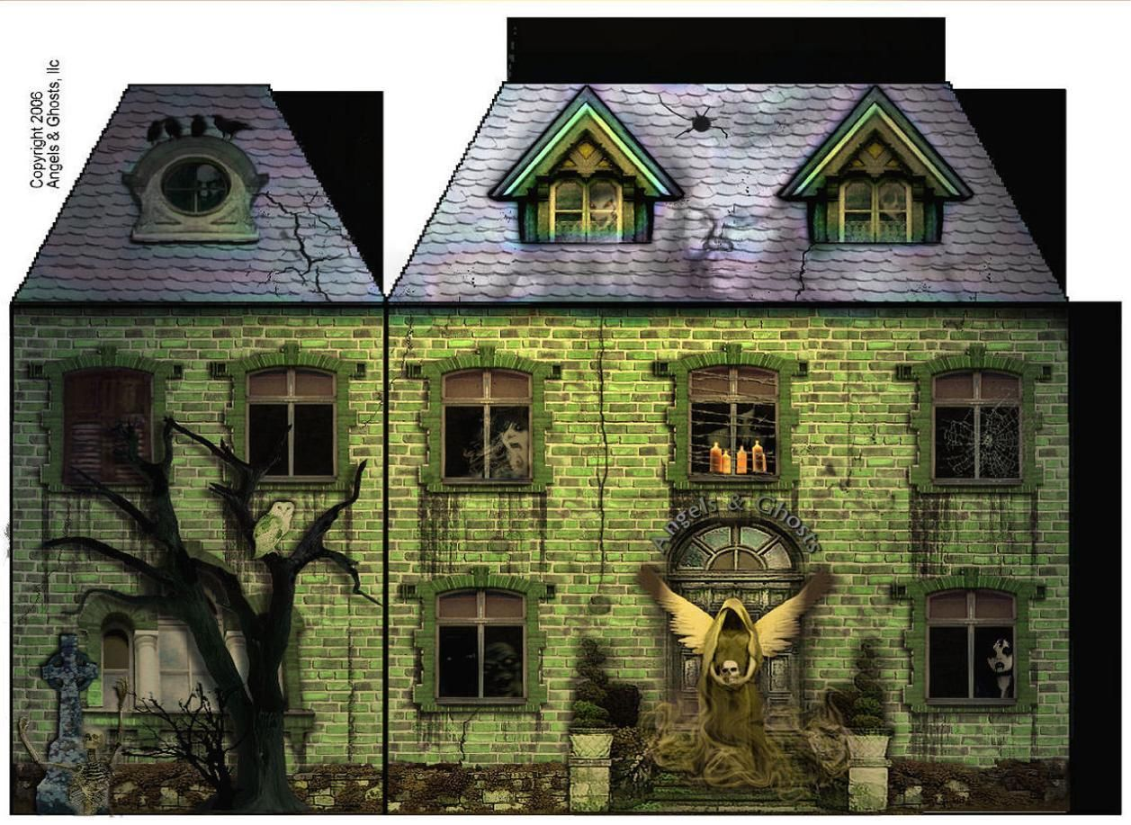 Haunted house paper crafts miniature haunted houses amazing haunted house paper crafts miniature haunted houses jeuxipadfo Image collections