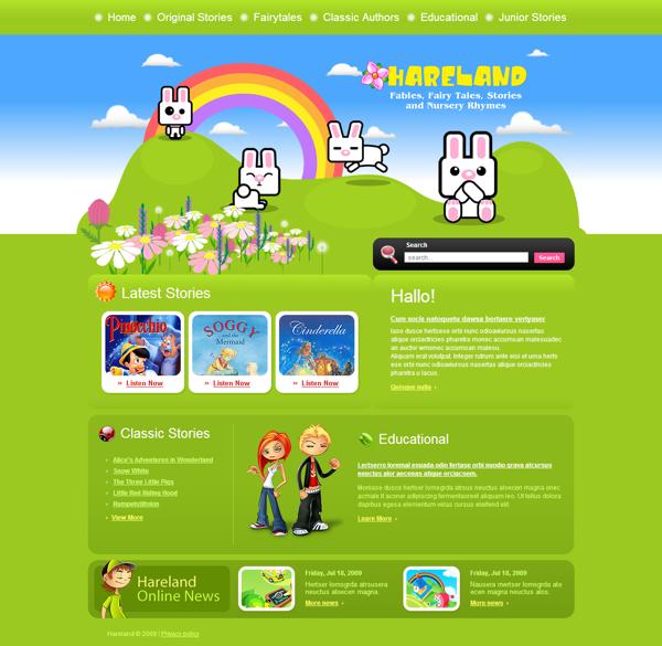 Child Book Joomla Template by Html5 Web Templates, via Behance ...