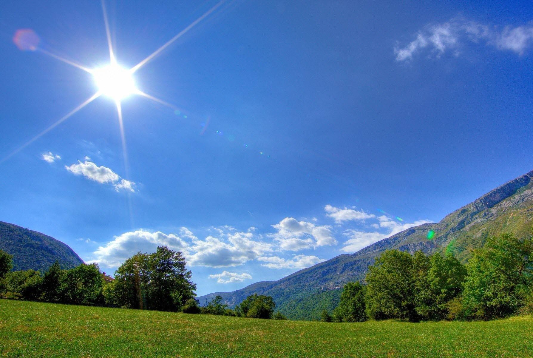 A Sunny Day In The Mountains Sunny Day Images Springtime Pictures Nature Wallpaper