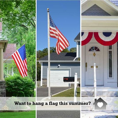Ready To Hang A Flag In Front Of Your House Get Tips To Get It Done It S Not Hard Http Www Hometipsforwomen Com Hanging Hanging Flags Flag Home Hacks