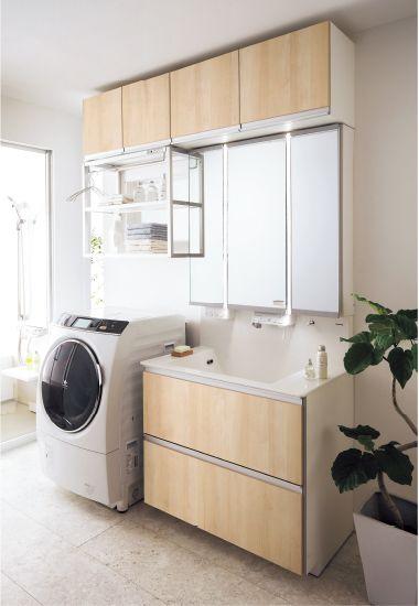 1日中きれいをキープ 洗面所の収納術 くらしスペシャリスト すむ 商品写真 洗面台 脱衣室 収納 パナソニック 洗面台