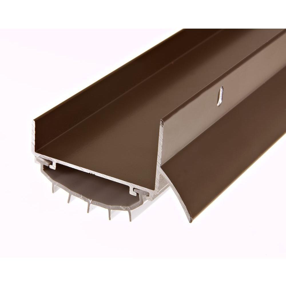 Frost King E O 1 3 4 In X 36 In Brown U Shape Door Bottom Sweep With Drip Cap U37brh The Home Depot Metal Doors Exterior Door Sweeps Metal Door