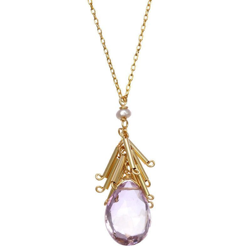 Michelle Pressler Necklace Fringed Pink Amethyst 2509 Artistic