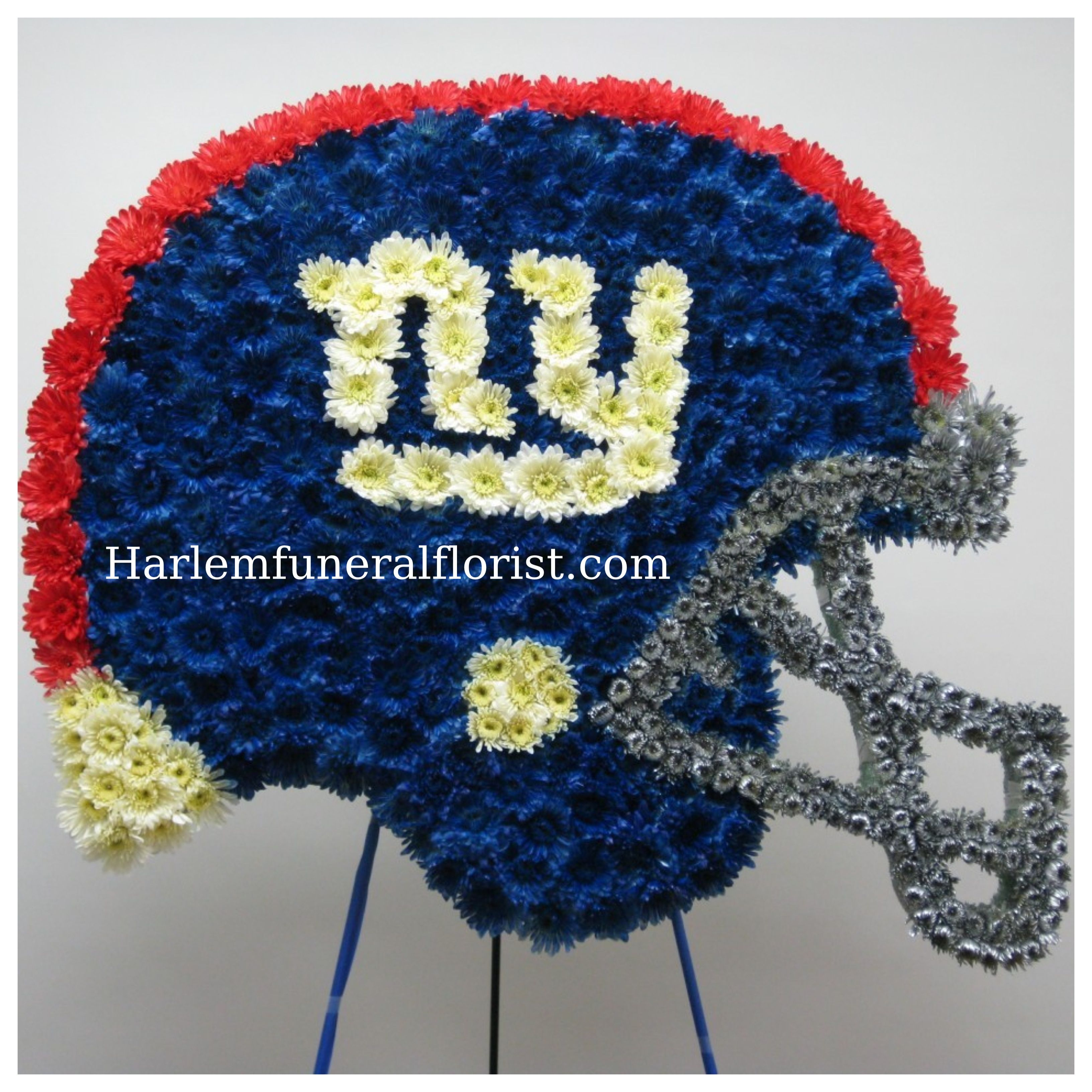 Ny giants custom funeral flower designs pinterest sympathy new york giants helmet wish dads spray came out like this one izmirmasajfo Images