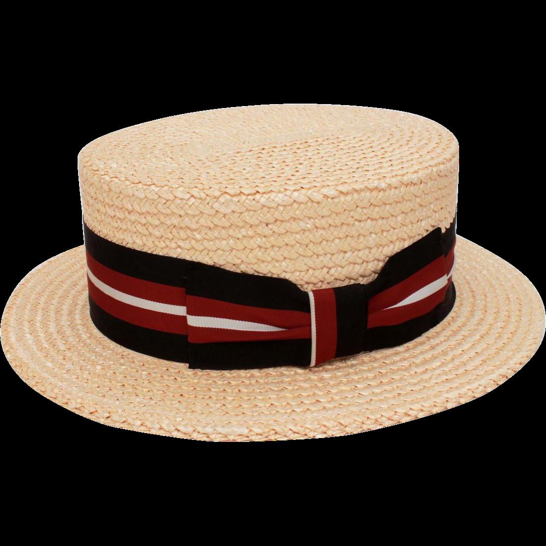 Italian Straw Boater Grosgrain Hat Band in Black 2bb6e8ec9ea3