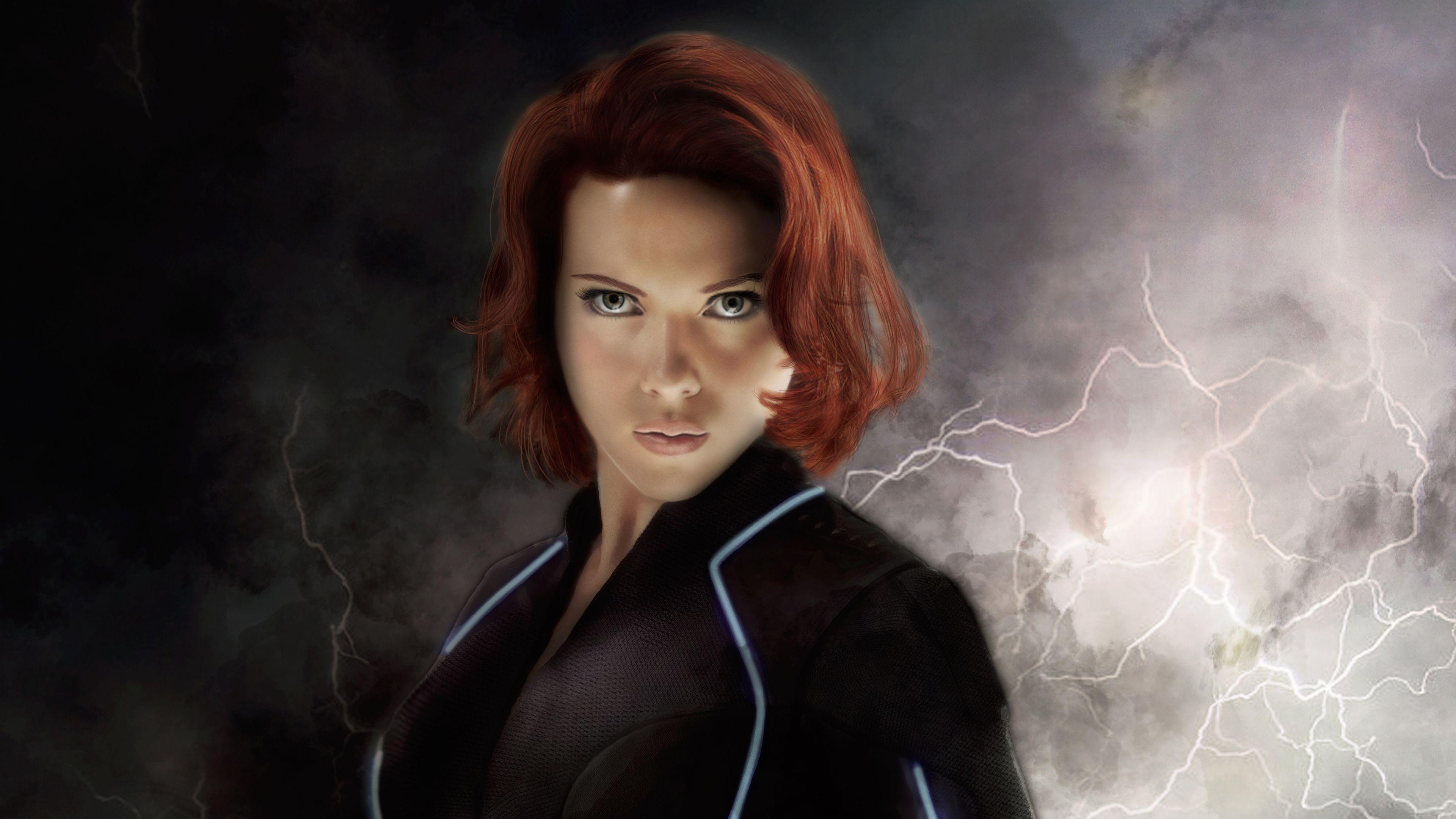 Black Widow Art 4k Superheroes Wallpapers Scarlett
