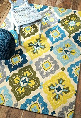 Nuloom Hand Made Rug Yellow Living Room Floral Area
