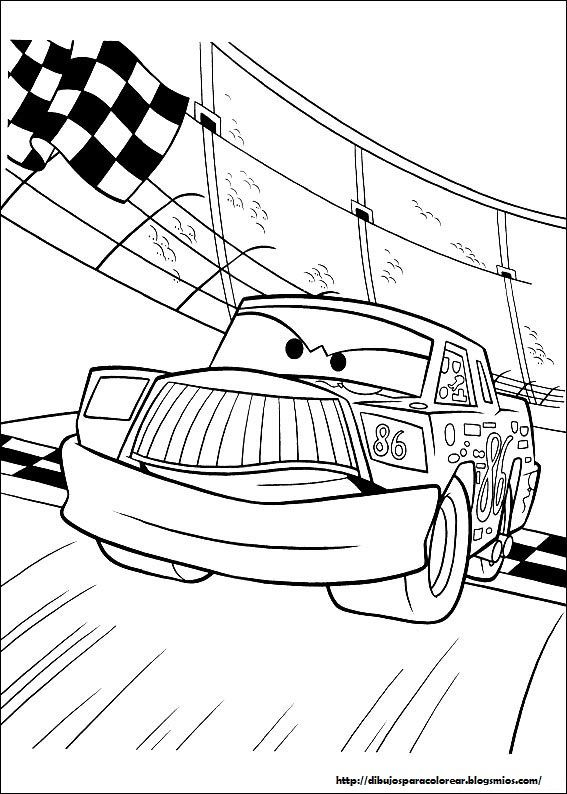 coloring pages of the cars 11 | ぬりえ