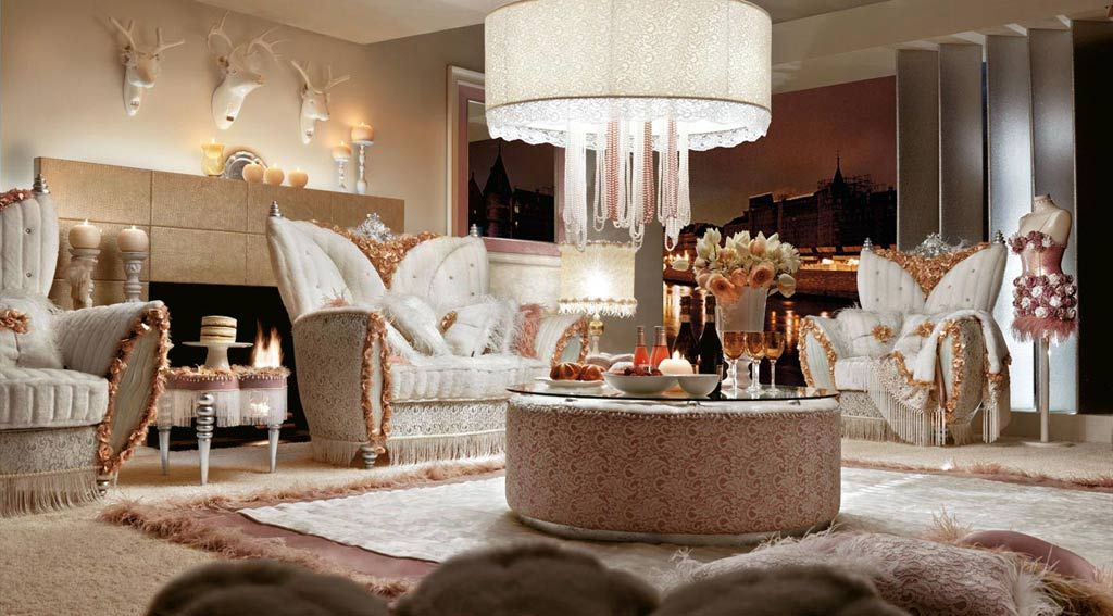 Lovely Extraordinary Luxurious White Living Room Sofa Set 1,024
