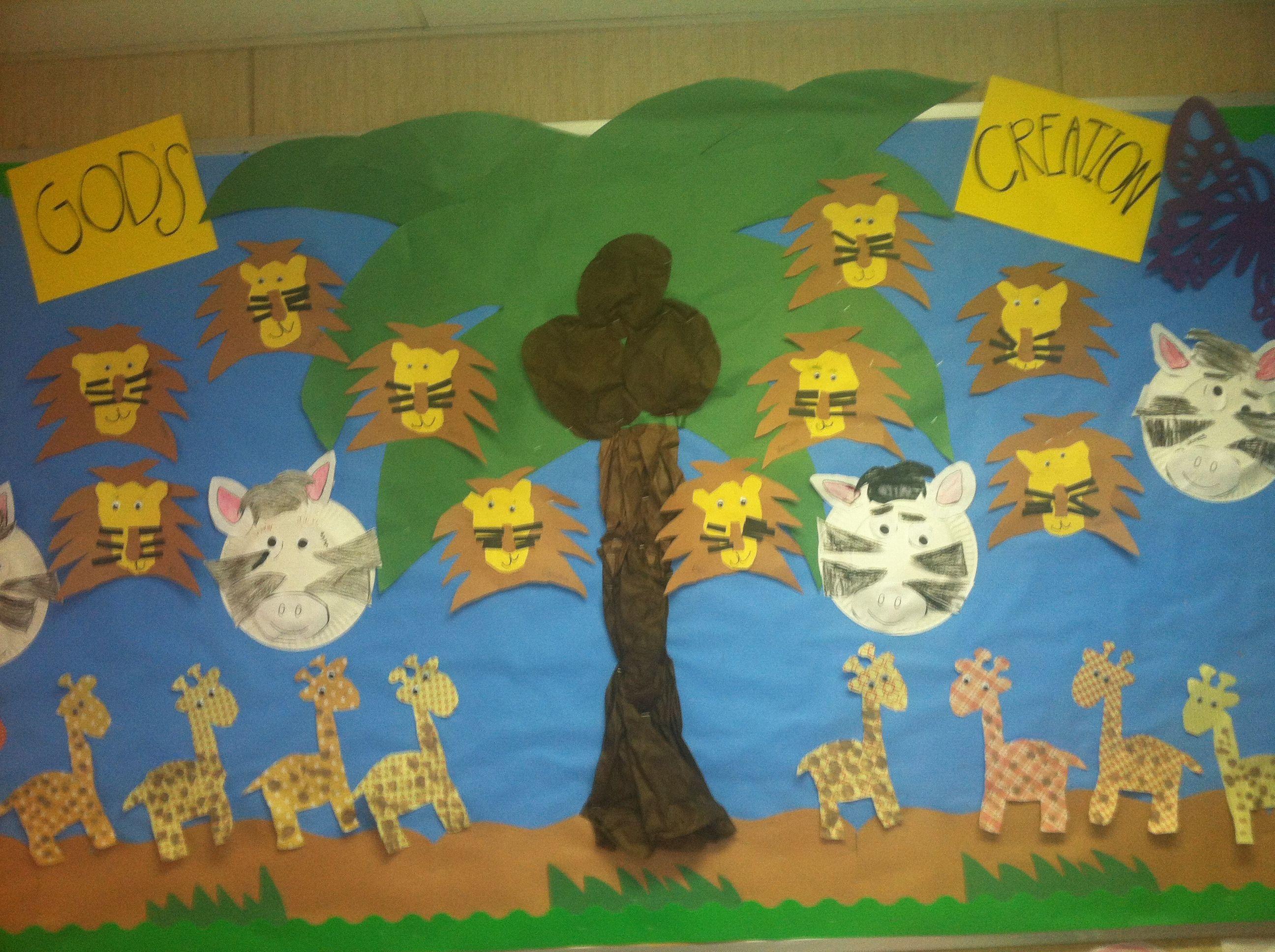 Wild animal bulletin board by the wonderful Mrs. Suzanne