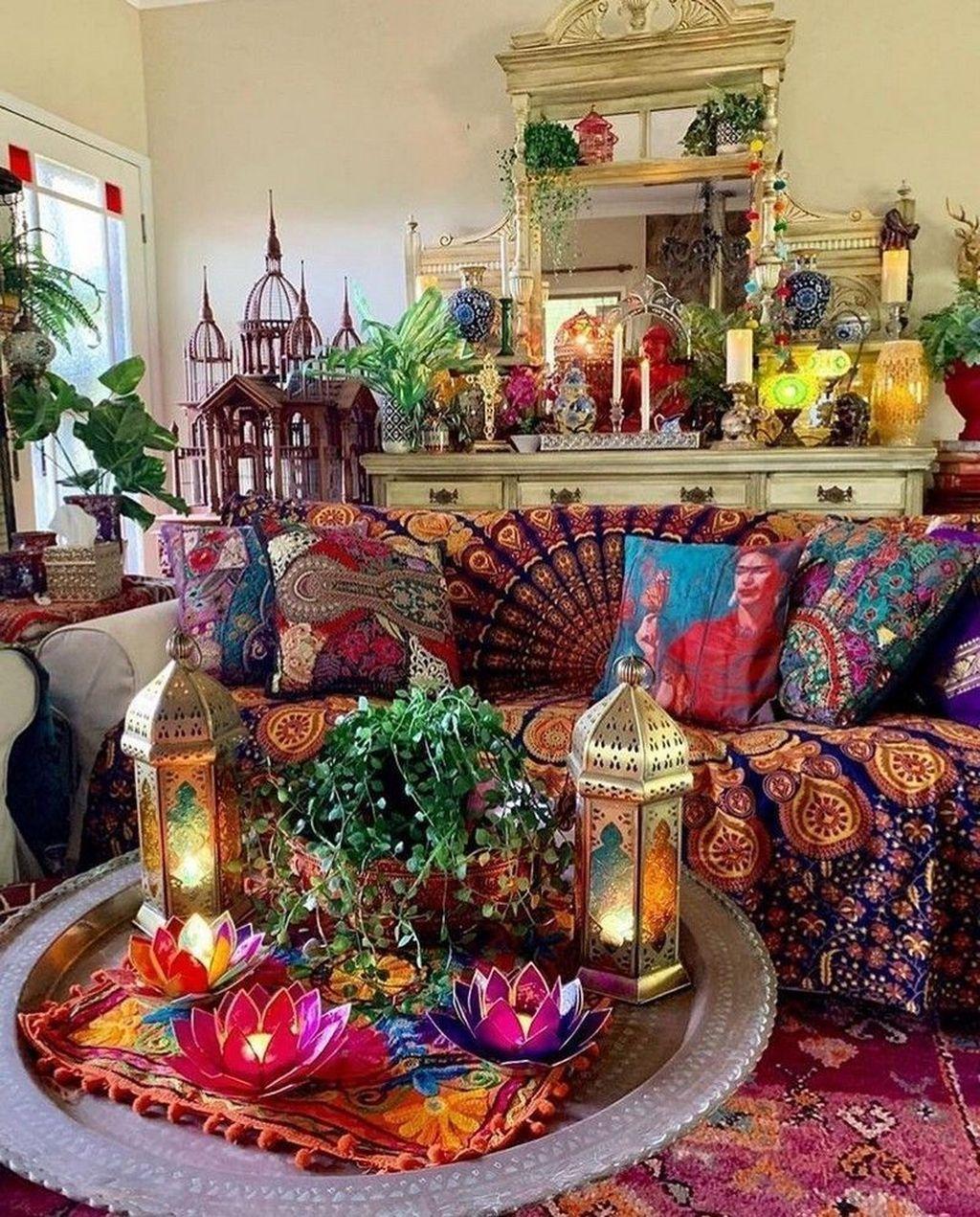 30 Unique Bohemian Decor Ideas For Living Room Trenduhome Bohemian Living Room Decor Bohemian Living Rooms Cozy Bohemian Living Room Gypsy living room decor