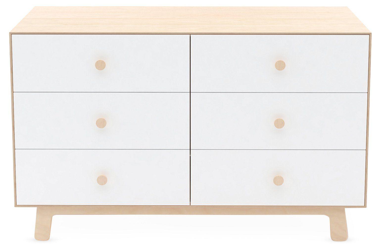 Sparrow 6 Drawer Dresser White Natural Dressers