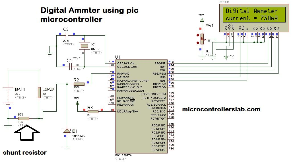 Wiring Adc Ammeter Illustration Of Wiring Diagram