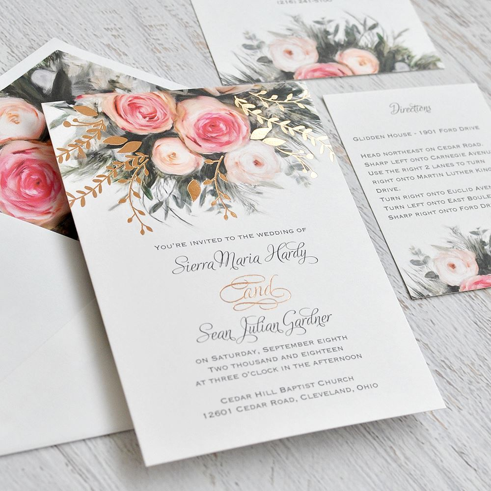 Ethereal garden foil invitation garden weddings weddings and easily personalized and shipped in a snap shop invitations by dawn for gorgeous wedding invitations monicamarmolfo Image collections