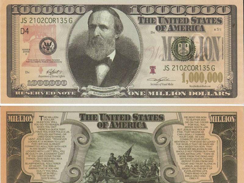 One Million Dollar Bill Real