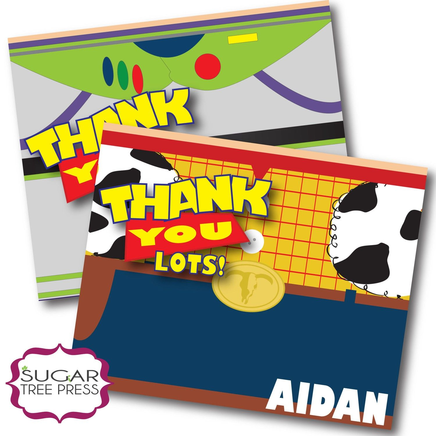 Printable Toy Story 3 Inspired Birthday Thank You Card