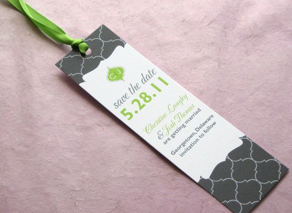 bookmark save the date  21  Save The Date Bookmark Templates – Free Sample, Example, Format ...