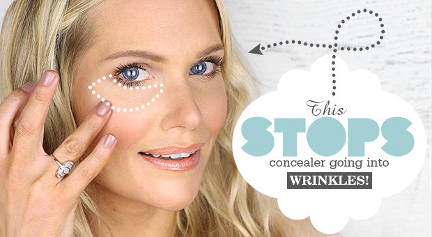 This Stops Concealer Going into Wrinkles Under eye wrinkles