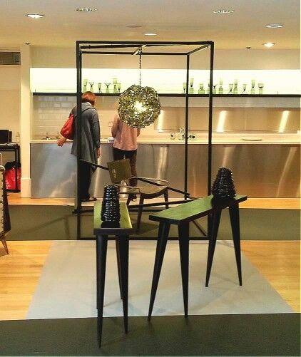 Tekura's walking consoles at the London Habitat Exhibition,  2013