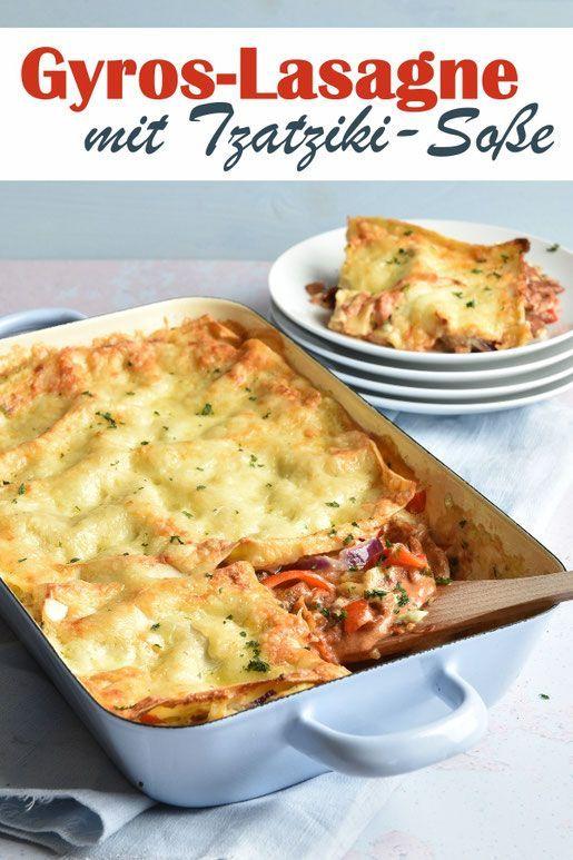 Gyros-Lasagne. Mit Tzatziki. Mmmhhhh! - Nudeln | fantastische Rezepte - #fantastische #GyrosLasagne...