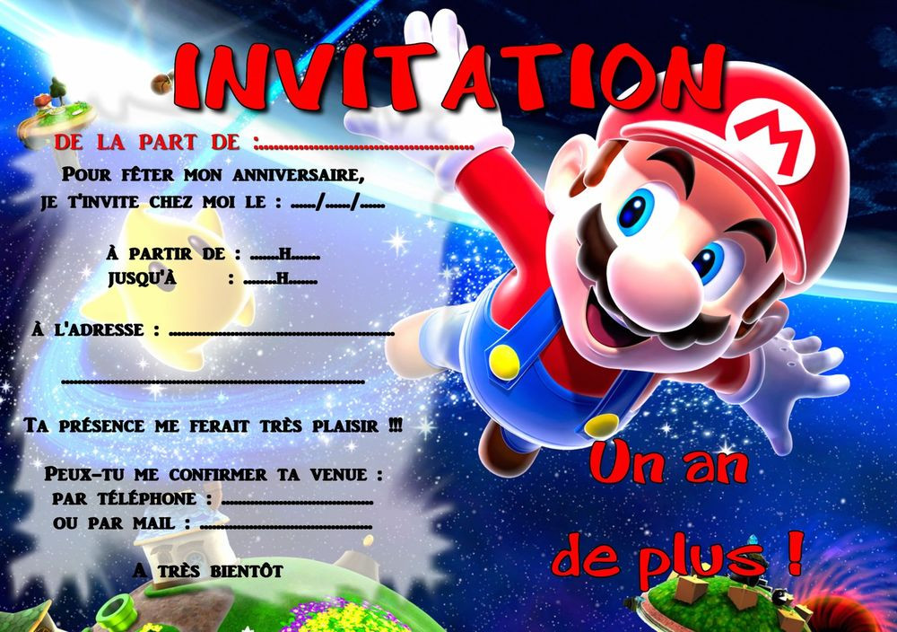 Carte D Anniversaire Invitation Mario Beautiful 5 Ou 12 Cartes Invitation Anniversaire M Carte Invitation Anniversaire Carte Invitation Invitation Anniversaire