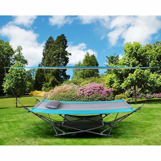 Costco 95 Mac Sports Folding Hammock With Canopy Hammock With Canopy Outdoor Backyard Canopy