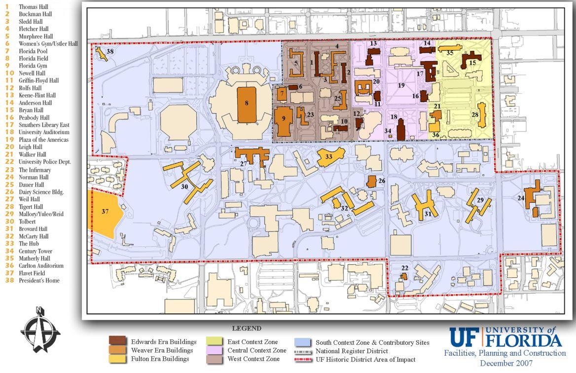 Map University Of Florida on