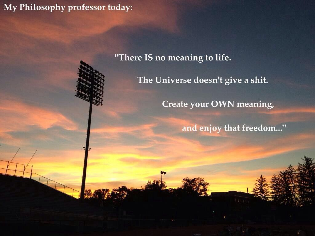 Philosophers Quotes On The Meaning Of Life Create Your Own Meaning  Quotes On Pics  Pinterest  Life Images