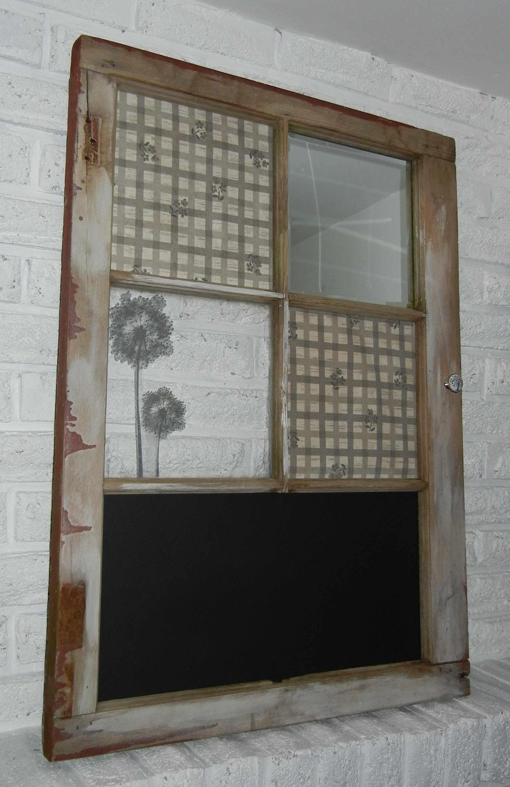Reclaimed Ontario Window Frame, Chalk Board