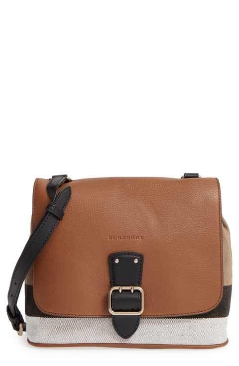 a64d0557ed20 Burberry  Small Shellwood  Canvas   Leather Crossbody Bag ...