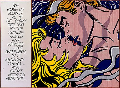 Triple Panel Giclee CANVAS ART Picture ROY LICHTENSTEIN /'DROWNING GIRL/'