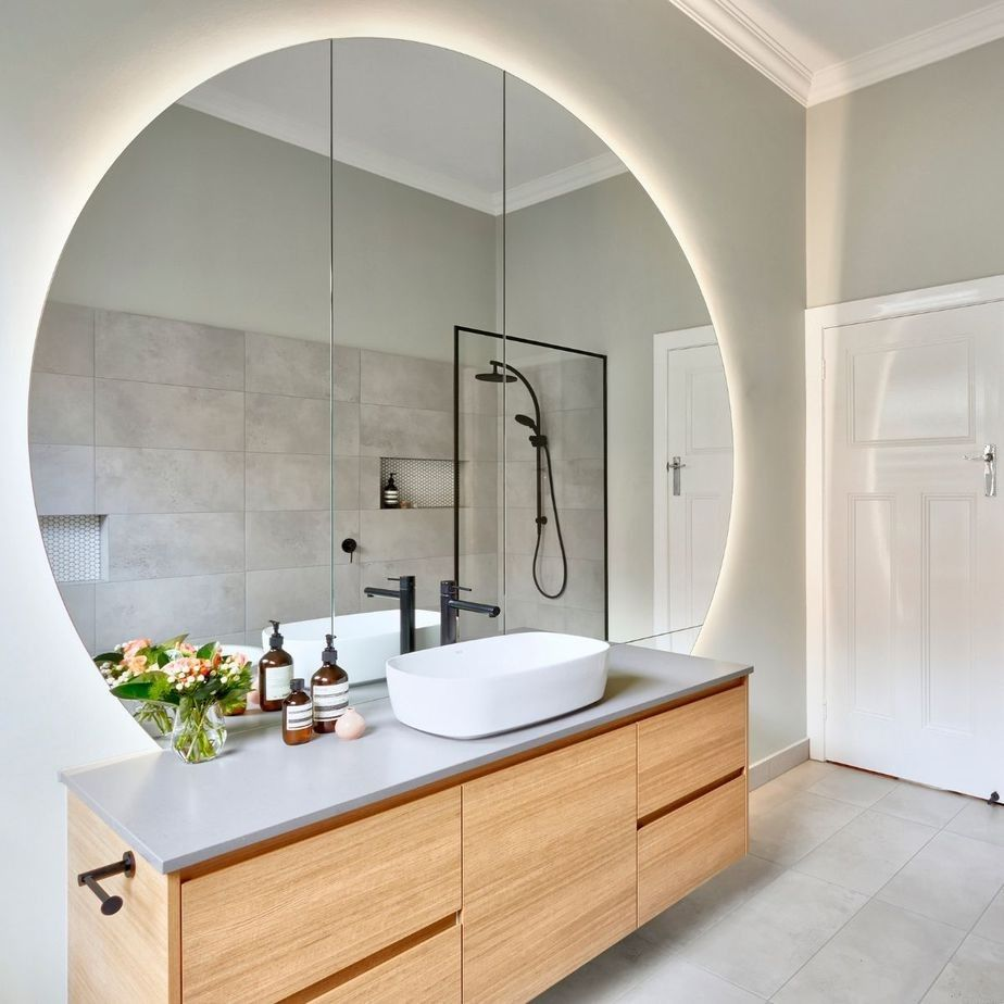 pin by grace harcoan on bathroom in 2020 bathroom mirror on bathroom renovation ideas melbourne id=21291
