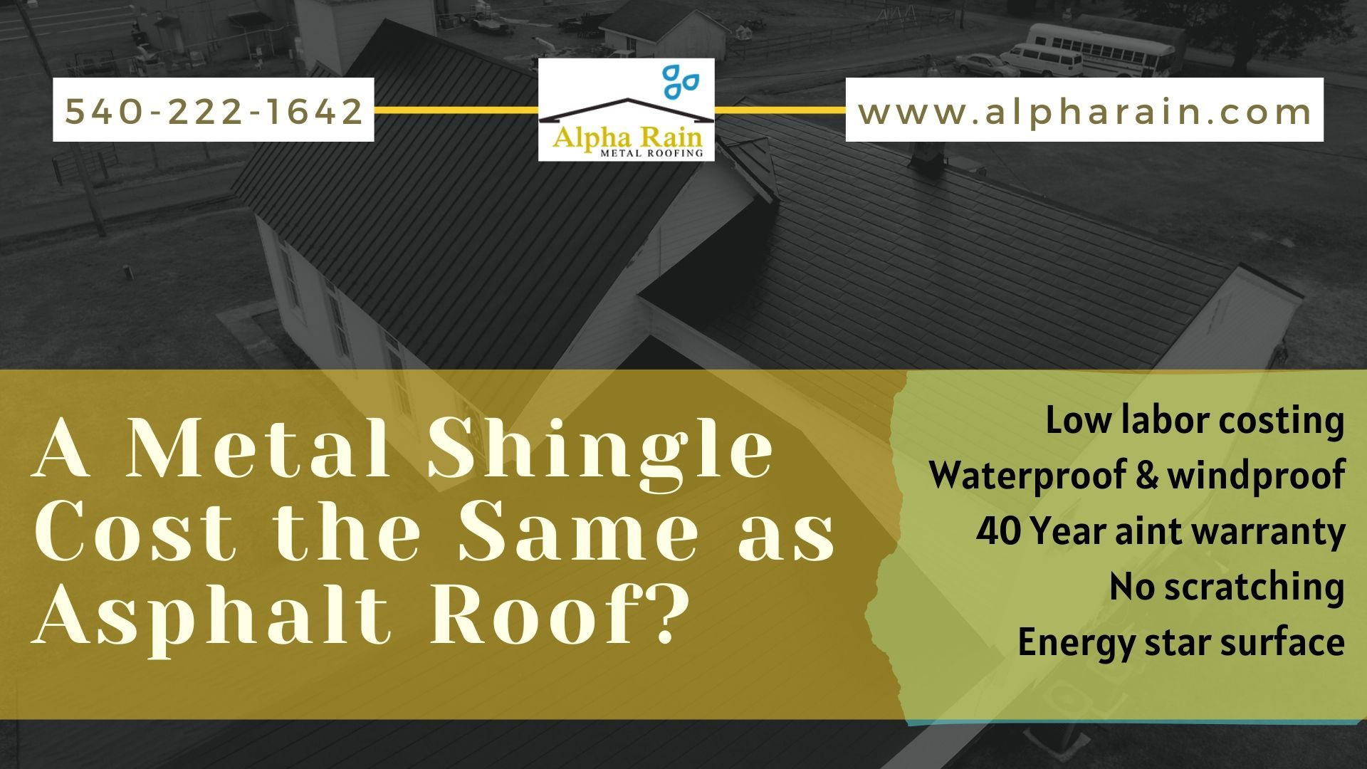 Resonable Metal Shingles Cost Compare With Asphalt Shingle In 2020 Metal Shingles Shingling Asphalt Roof